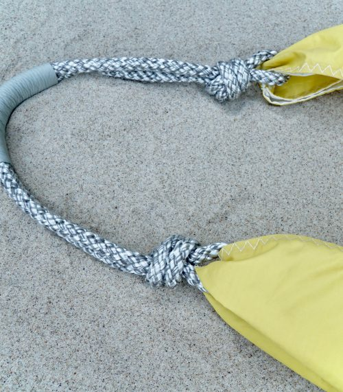 Shopper Yellow with Grey Rope 2