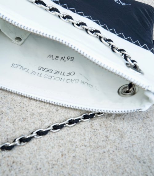 Chain bag white & black 2