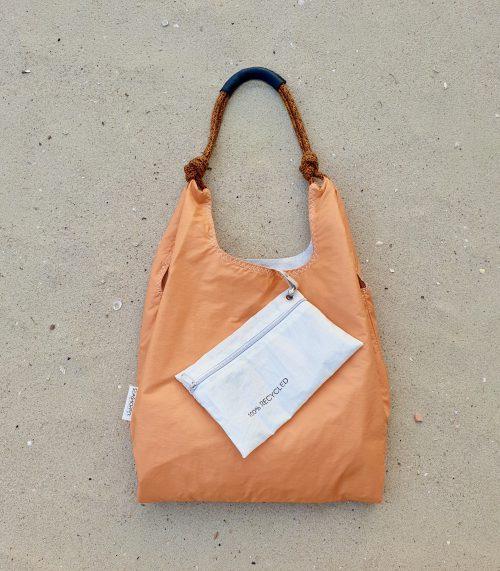 pomarańczowa torebka seashopper torebka z żagli