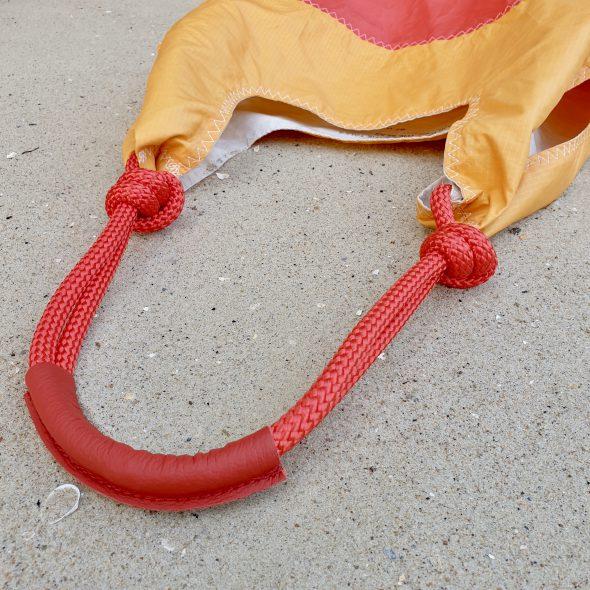 seashopper czerwona pomarańczowa torebka damska z żagli
