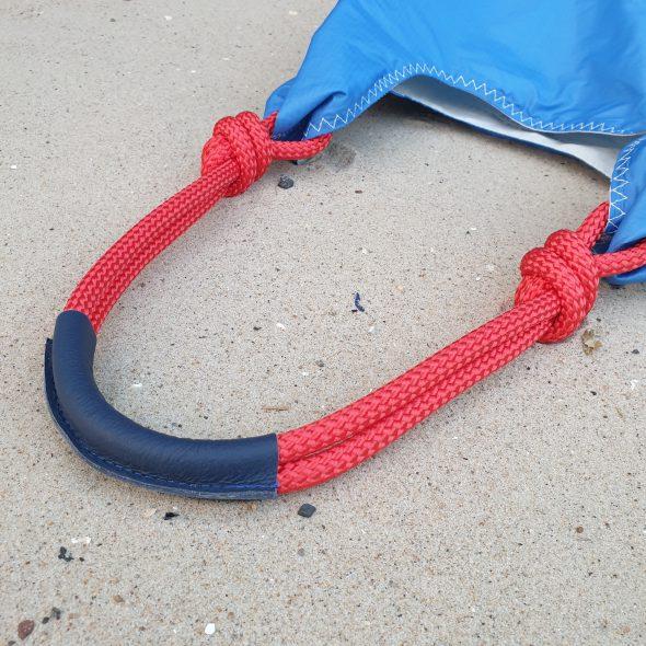 niebieska torebka seashopper torebka z żagli z recyclingu eko torebka