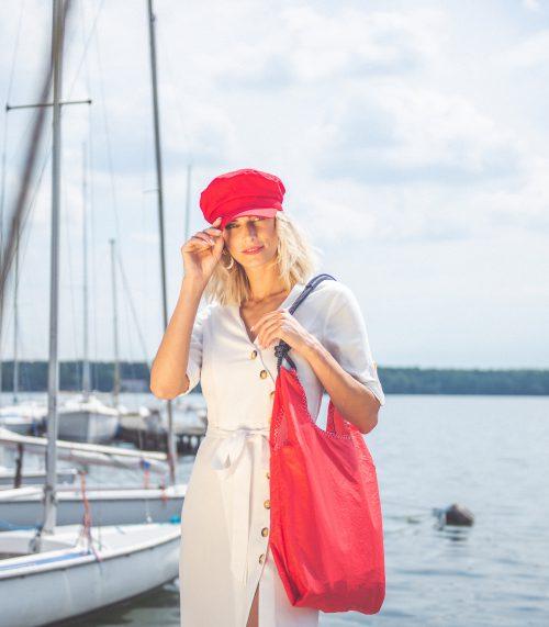 seashopper torebka damska z żagli handbag vintage sailbag