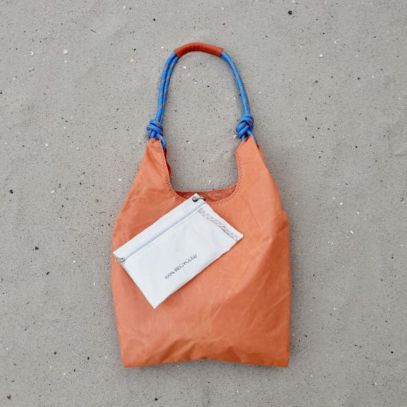 pomarańczowa torebka seashopper damska torba z żagli
