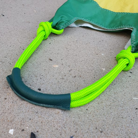 żółto zielona torebka z żagli seashopper