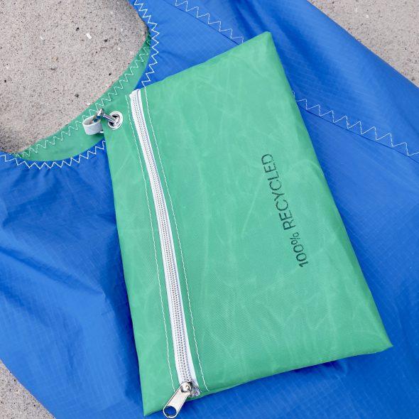 niebiesko zielona torebka seashopper damska torba z żagli