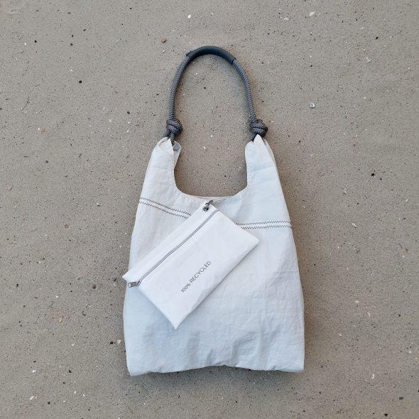 biała torebka seashopper torebka z żagli z recyclingu