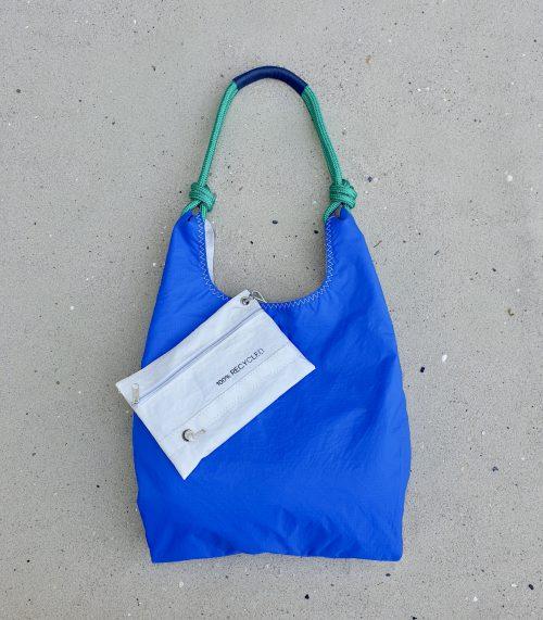 niebieska torebka seashopper torebka z żagli torba z żagli