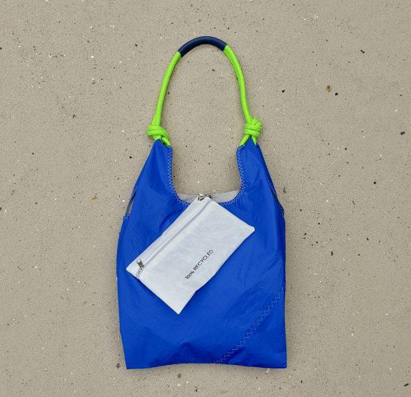 żeglarska torebka seashopper torebka z żagli torba z żagli niebieska torebka