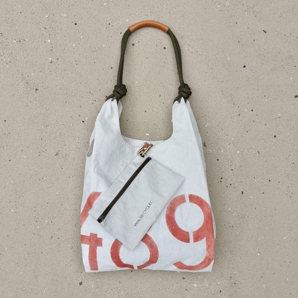 vintage torebka seashopper damska torba z żagli SAILBAG