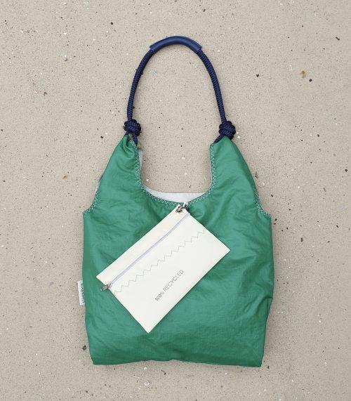 Seashopper zielona torebka damska z żagli torba z żagli