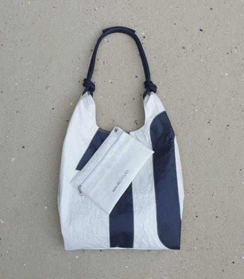 Seashopper biała torebka damska z żagli torba z żagli