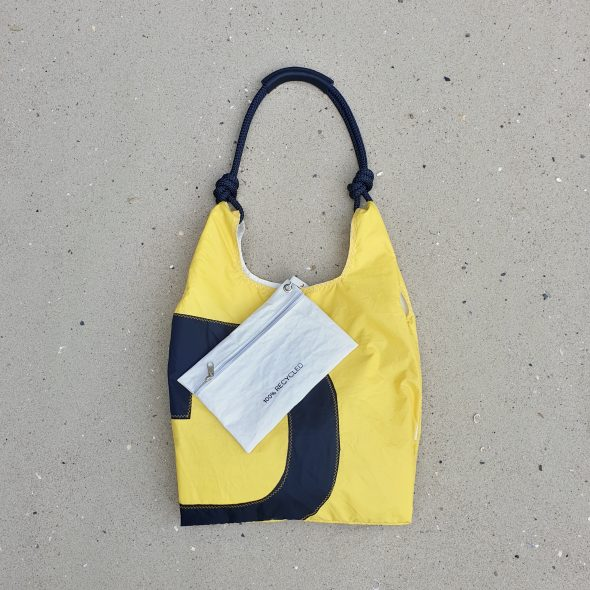 torebka seashopper torebka z żagli torba z żagli żółta torebka