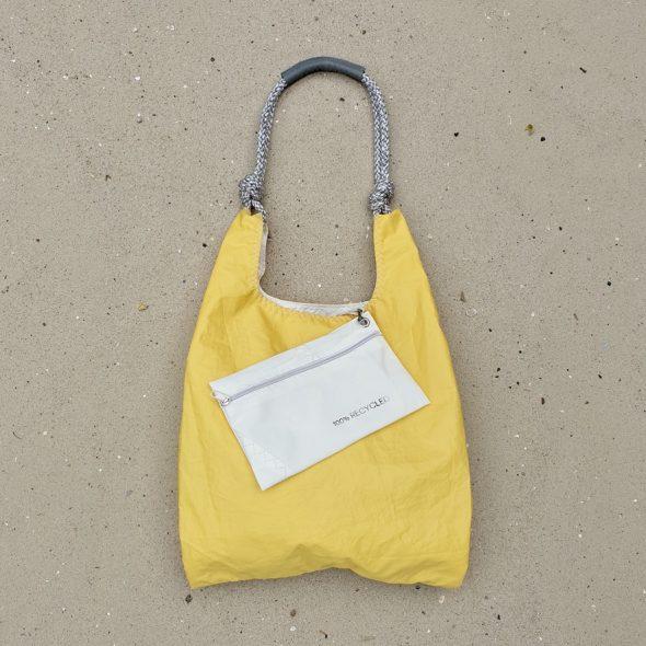 żółta torebka seashopper torba z żagli z recyclingu